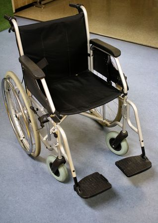 confined: Wheelchair Stock Photo