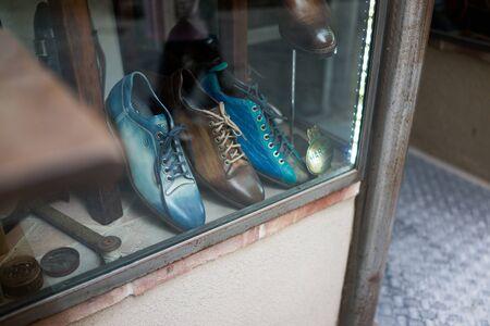 shop window: Leather shop window Editorial