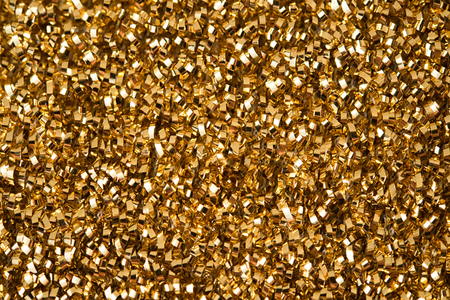 Golden yellow glitter surface. Background for holidays, christmas or celebration. Banque d'images