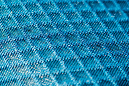 Blue 3d texturised technological seamless breathing fabric closeup.  Banque d'images