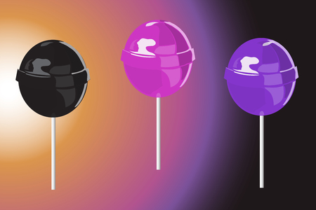 colored: colored lollipop Illustration