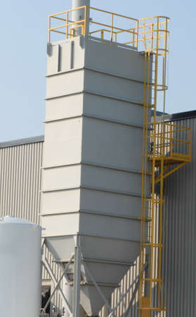 industrial dust collector at a manufacturing plant Banco de Imagens
