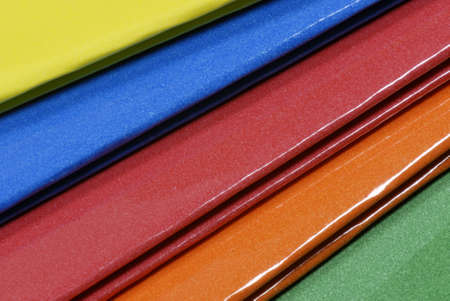 categorize: bright colorful hanging file folders - good for background Stock Photo
