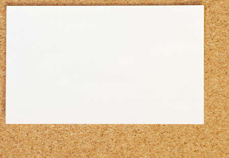 blank business card on cork board background Stok Fotoğraf