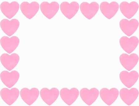 confine cuore rosa isolato su sfondo bianco