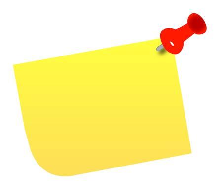 gele duim tacked opmerking - vector