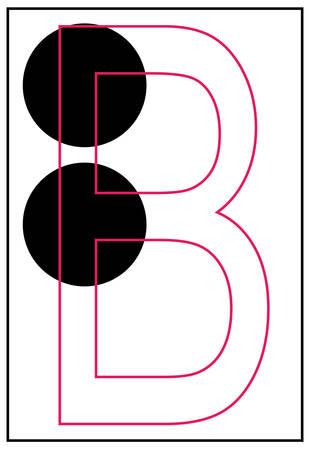 braille aphabet letter b - vector Ilustração