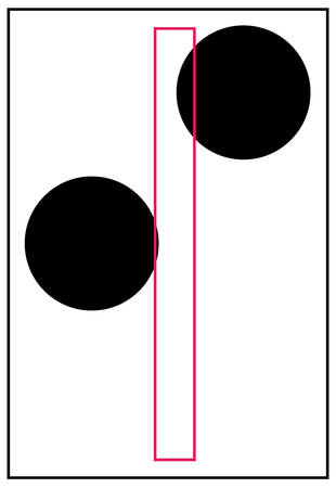 braille alphabet letter i - vector