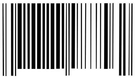 Barcode scan code op witte achtergrond - vector Stockfoto - 2530873