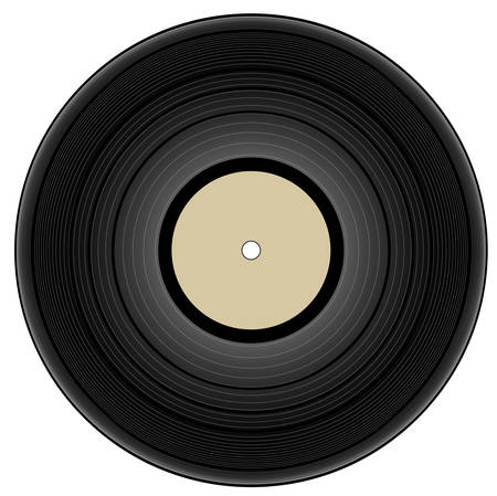 vintage vinyl record - vector illustration