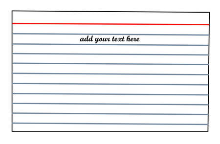 lined index card with room for text - vector