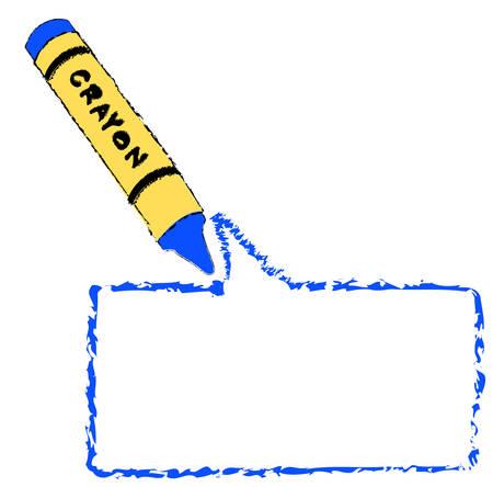 krijt kleuren een cartoon tekstballon of ballon - vector Stock Illustratie