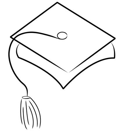 graduation hat or cap - vector illustration Ilustracja