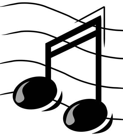muziek noot op personeel - vector afbeelding