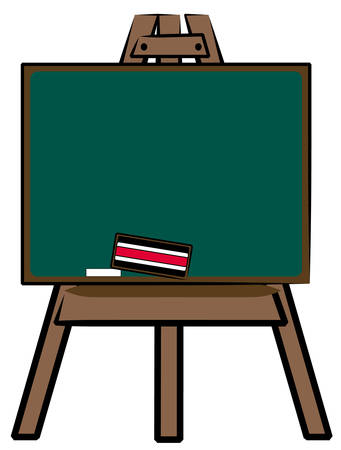 chalkboard on wooden easel - vector illustration 向量圖像