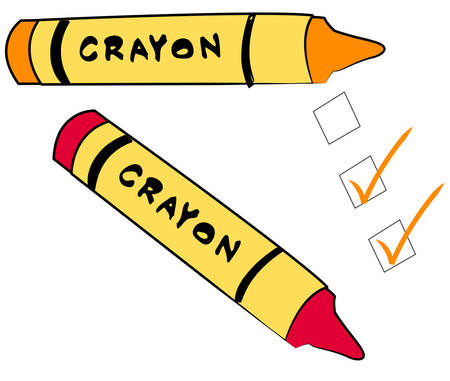 to do check boxes with crayons - vector