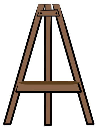 brown wooden craft or art easel - vector Vectores