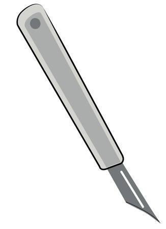 상자 커터, 공예 또는 정밀도 칼 흰색 배경에 - 벡터