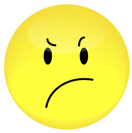 smiley face with frustrated or angry expression - vector