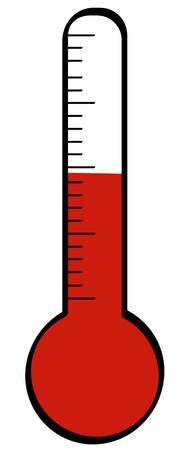 thermometer met de temperatuur stijgt - vector Stock Illustratie
