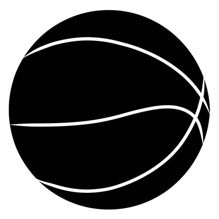 basketball silhouette in black on white background - vector