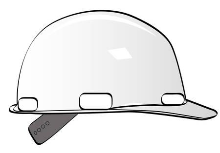 werknemers in de bouw harde hoed op wit - vector Stock Illustratie