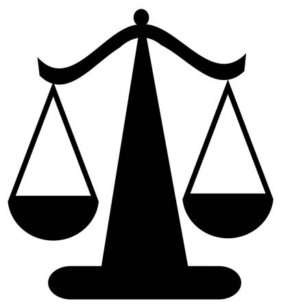 balancing scale or scales of justice - vector