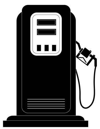 검은 가스 또는 연료 펌프 실루엣 - 벡터