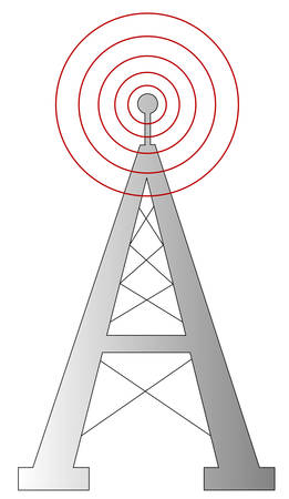 radio antenna or tower with signal - vector Stock fotó - 2818810