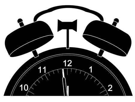 wekker alleen over tot staking twaalf - vector