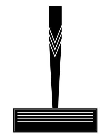 men's or ladies disposable razor silhouette - vector