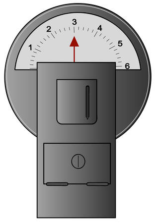 parking meter with three hours left on meter - vector