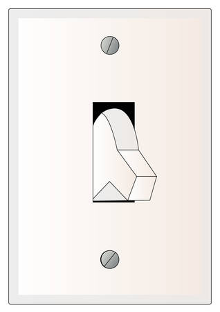 light switch turned in the off position - vector