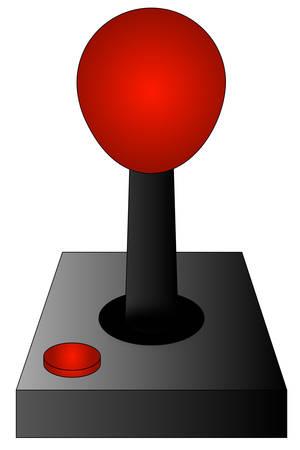 게임 조이스틱 또는 컨트롤러 흰색 배경에 - 벡터 일러스트