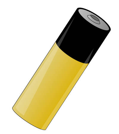 gold and black battery cell