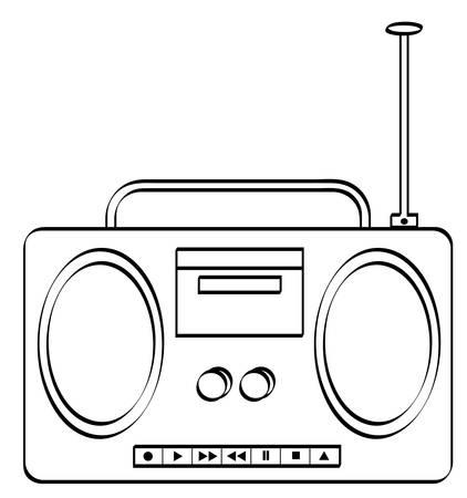music stereo or radio boombox - vector