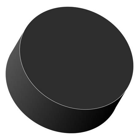 hockey puck isolated on white background - vector Vektoros illusztráció