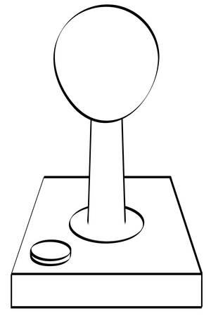 outline of gaming joystick or controller - vector Stock Illustratie