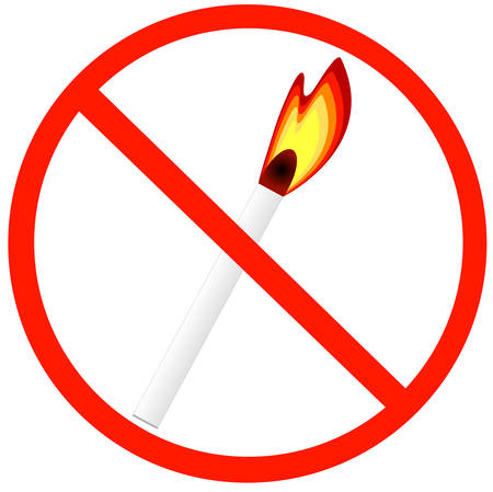 matches not allowed - no fires allowed symbol - vector
