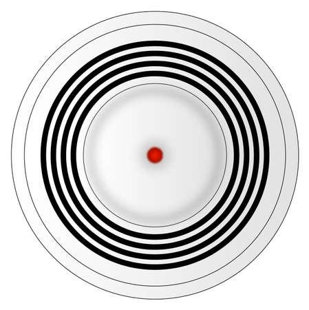 Illustration d'un détecteur de fumée Banque d'images - 2919292
