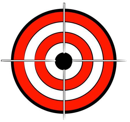 赤白と黒のブルズアイ ターゲット十字 - のベクトル