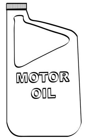overzicht van plastic motoroliefles - vector
