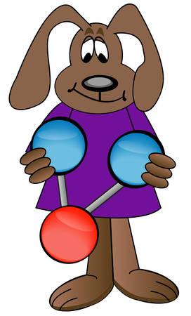 Cartoon cane molecola di acqua colorata di azienda - vector Archivio Fotografico - 3084456