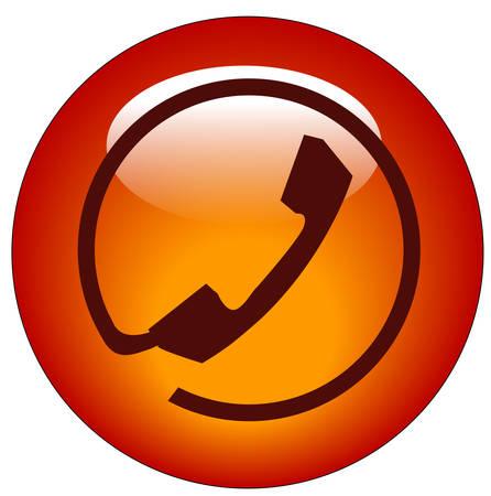 rode knop of het pictogram van de telefoonverbinding van de