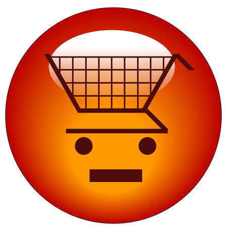 shopping cart with minus sign icon - add to shopping cart