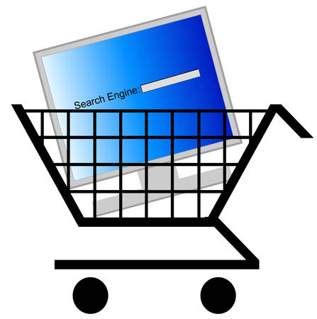 shopping for a new computer search engine Stock Vector - 3359376