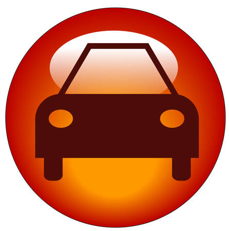 button or icon for an automobile or a car
