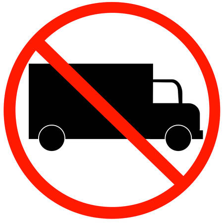 No Trucks Allowed sign isolated against a white background Иллюстрация