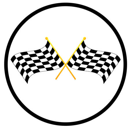 illustration symbol of two waving checkered flags