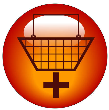 Votre panier avec l'icône signe plus - Ajouter au panier Banque d'images - 3404818